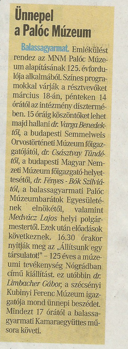 NMH_2016.03.17._Ünnepel a Palóc Múzeum