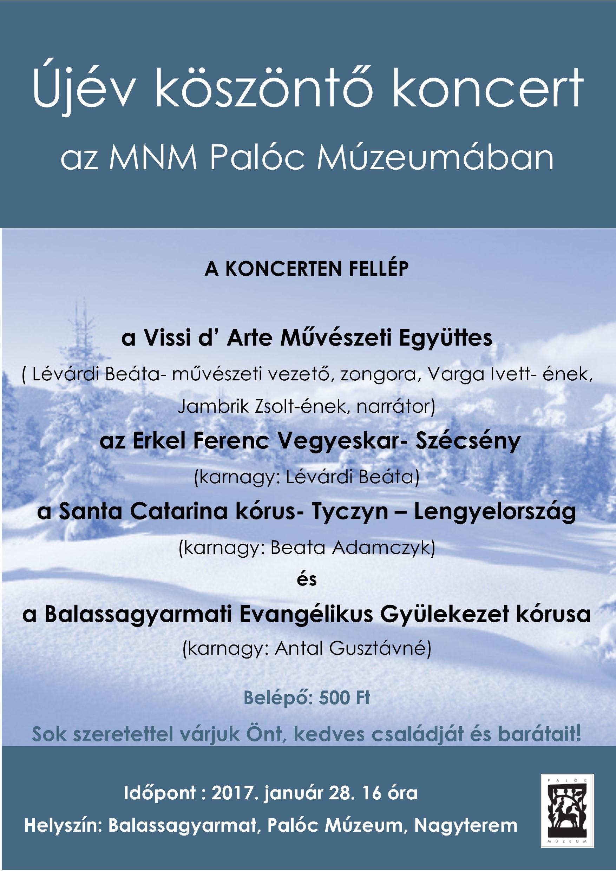 Újévi koncert plakát