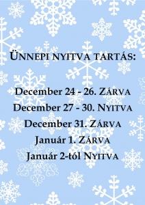 karácsonyi ünnepi nyitva tartás 2017