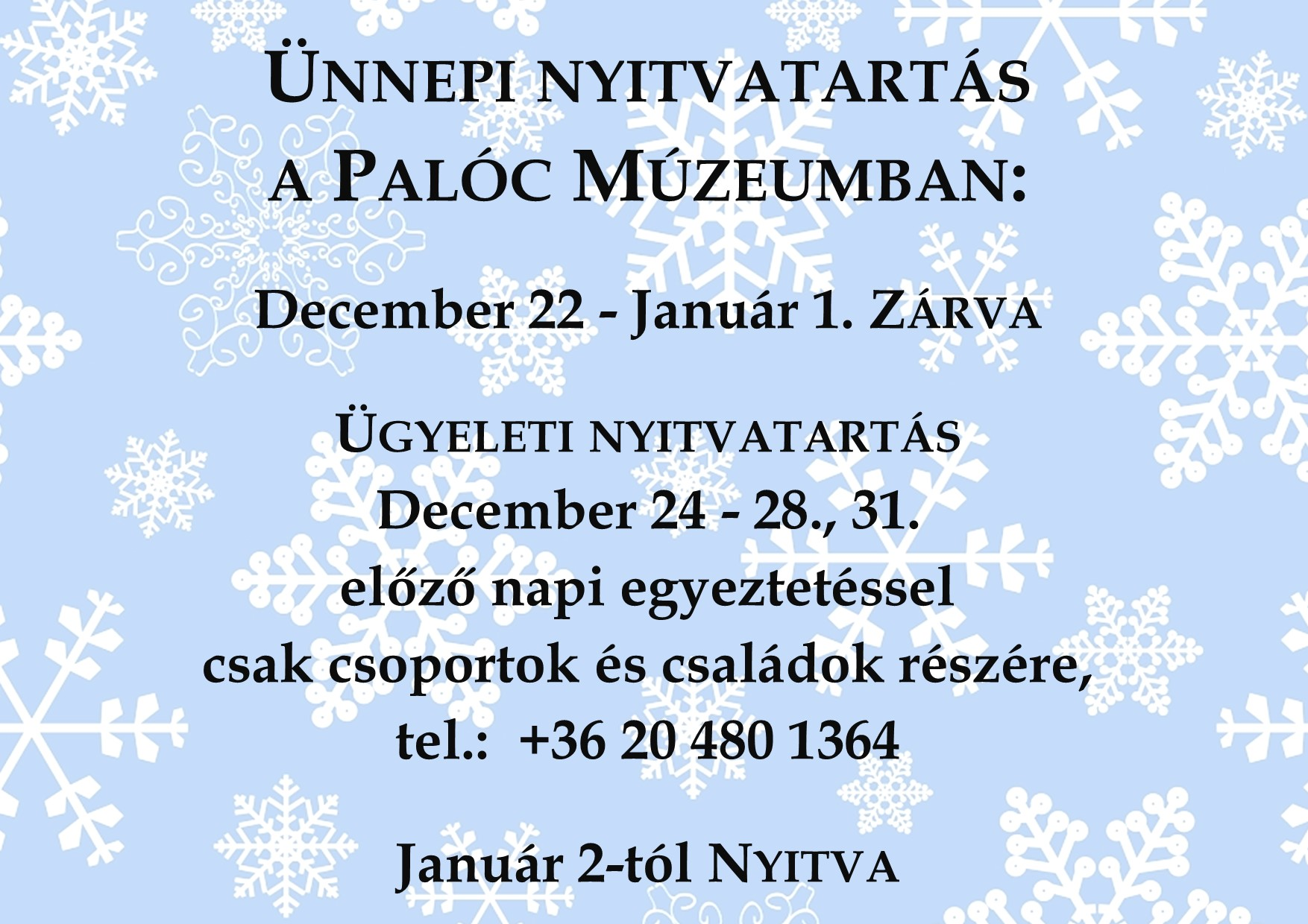 karácsonyi ünnepi nyitva tartás 2019