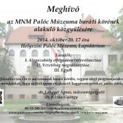baráti kör alakuló közgyűlés 2014. október 20. 17 óra